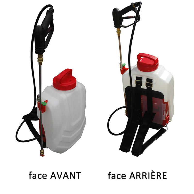 Pulvérisateur dorsal autonome à batterie de 16 litres